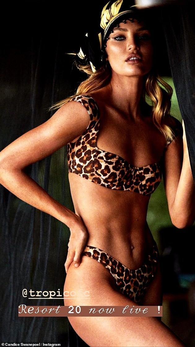 Candice Swanepoel diện mốt không nội y, khoe cơ bụng săn chắc với bộ váy tuyệt đẹp - ảnh 10