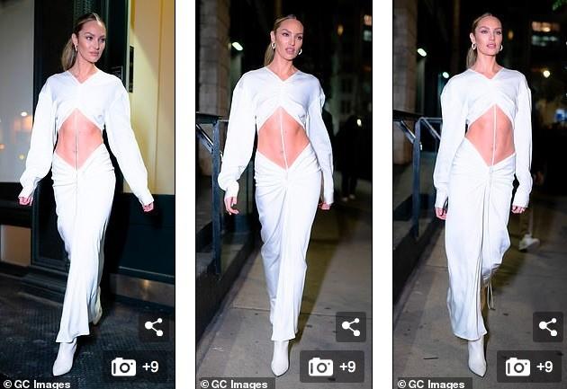 Candice Swanepoel diện mốt không nội y, khoe cơ bụng săn chắc với bộ váy tuyệt đẹp - ảnh 4
