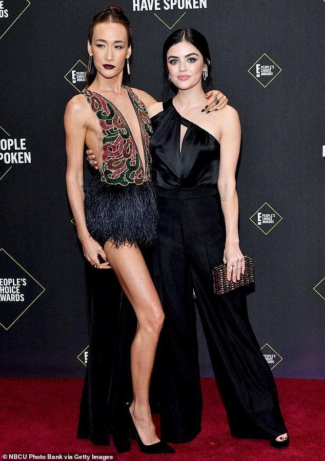 Sao nữ gốc Việt Maggie Q diện váy xẻ ngực đến eo - ảnh 5