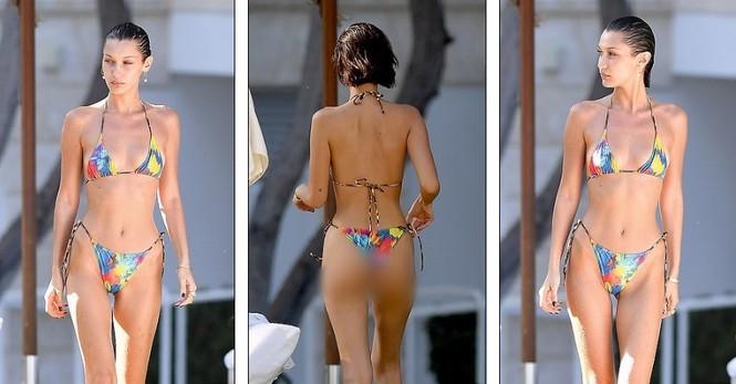Bella Hadid phô thể hình đẹp 'từng cm' với váy cắt xẻ 'tứ bề' - ảnh 4