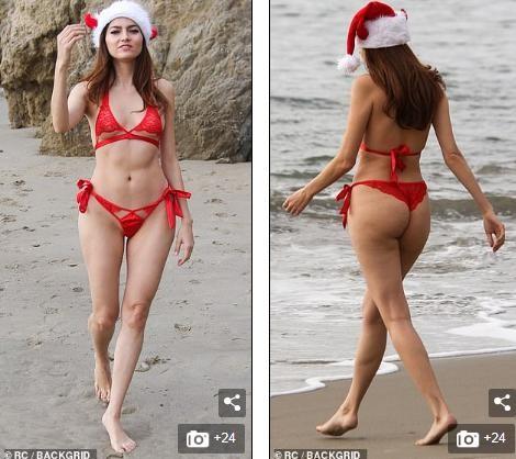 Blanca Blanco khiến quý ông chao đảo với bikini màu đỏ nhỏ xíu - ảnh 8