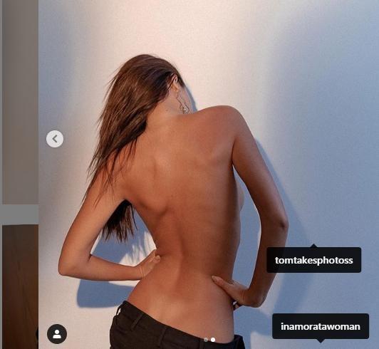 Ảnh bán nude khoe võng lưng tuyệt đẹp của siêu mẫu nội y Emily Ratajkowski  - ảnh 2