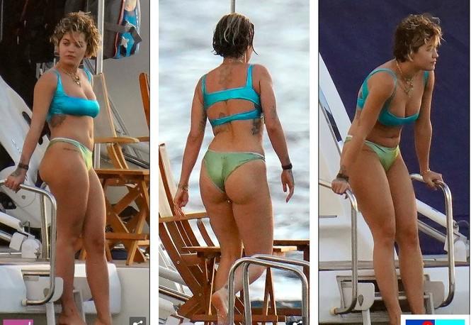 Rita Ora nảy nở hút mắt với áo tắm 2 mảnh nhỏ xíu - ảnh 9