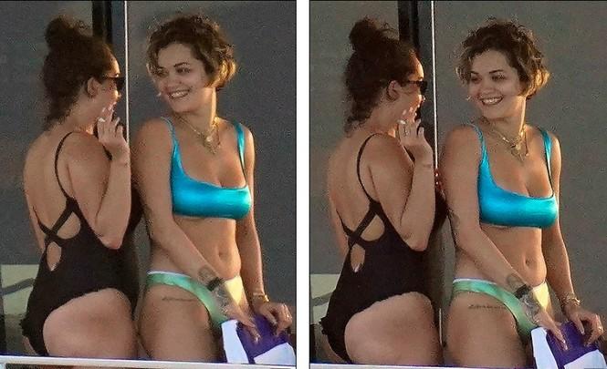 Rita Ora nảy nở hút mắt với áo tắm 2 mảnh nhỏ xíu - ảnh 10