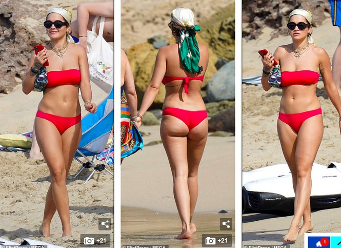 Rita Ora nảy nở hút mắt với áo tắm 2 mảnh nhỏ xíu - ảnh 1