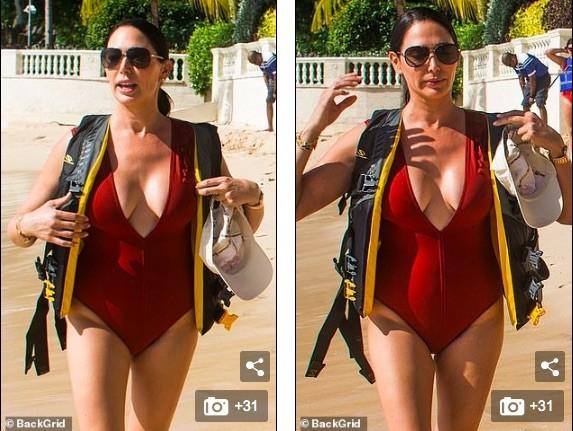 Vợ 'ông trùm giải trí' Simon Cowell 'bốc lửa' với áo tắm - ảnh 3