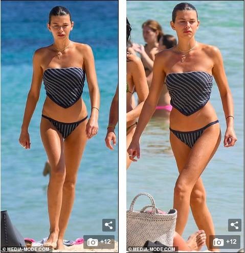 Chân dài Victoria's Secret mặc áo tắm lạ mắt, dáng đẹp như tạc tượng ở biển - ảnh 5