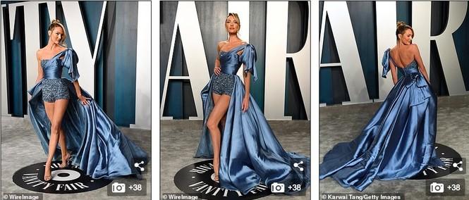 Dàn mẫu nội y hở ngực táo bạo trên thảm đỏ tiệc hậu Oscar 2020 - ảnh 1