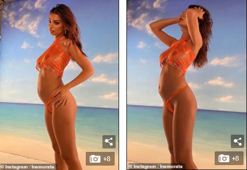 Mỹ nhân nóng bỏng Emily Ratajkowski mang bầu vẫn diện bikini 'rực lửa' - ảnh 4