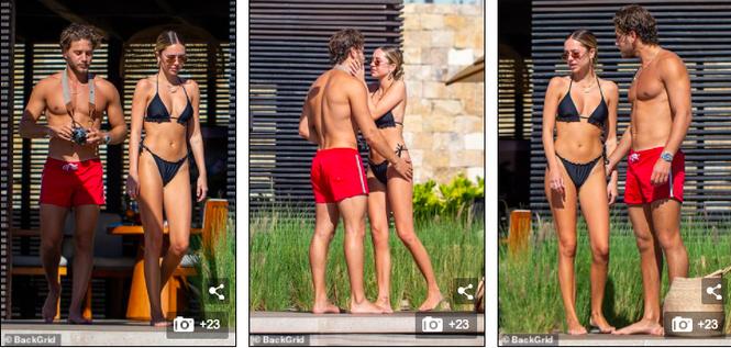 Delilah Belle Hamlin mặc bikini ngọt ngào quyến rũ, liên tục tình tứ bạn trai - ảnh 1