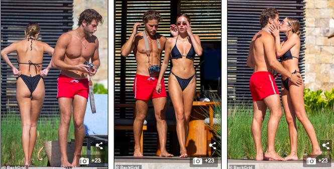 Delilah Belle Hamlin mặc bikini ngọt ngào quyến rũ, liên tục tình tứ bạn trai - ảnh 3