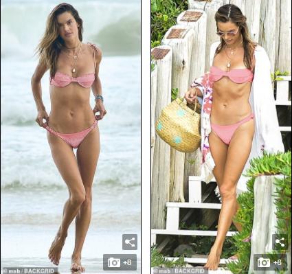Cựu 'thiên thần nội y' Alessandra Ambrosio đẹp ngất ngây với bikini - ảnh 1