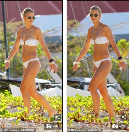 Vogue Williams gợi cảm nổi bật với bikini quây ở 'thiên đường thế giới' - ảnh 1
