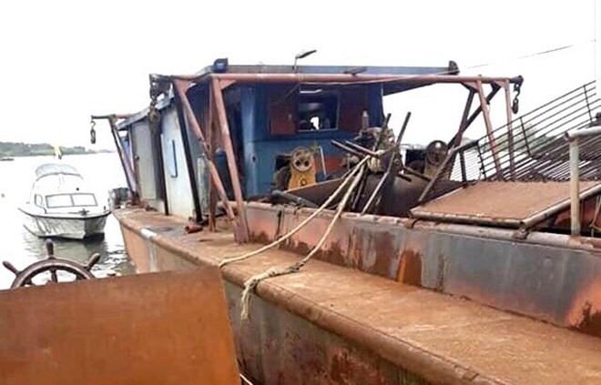 Hy hữu, trộm tàu thủy hơn 400 tấn từ Hải Dương sang Hải Phòng tiêu thụ  - ảnh 1