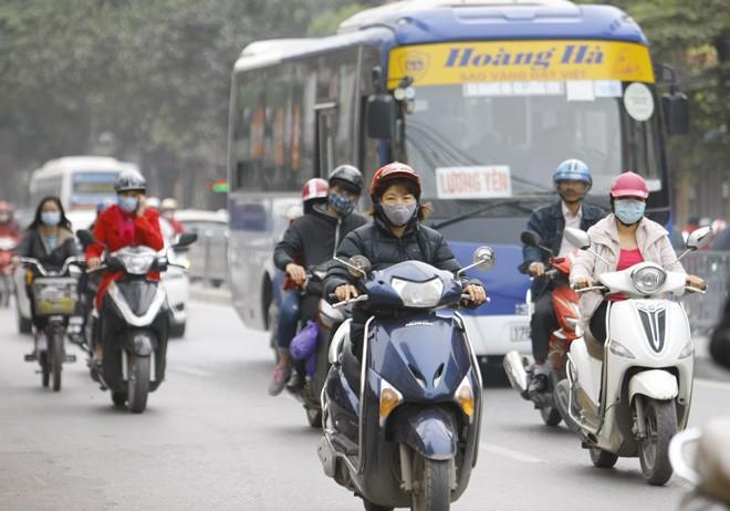 Ô nhiễm không khí ở Hà Nội lên mức nguy hại - ảnh 1