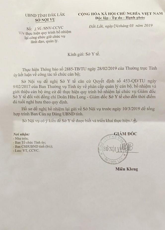 Thay đổi nhân sự lãnh đạo Sở Y tế Đắk Lắk  - ảnh 2