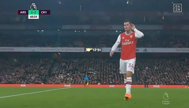 Arsenal mất điểm, đội trưởng Granit Xhaka hành xử xấu chưa từng thấy - ảnh 1