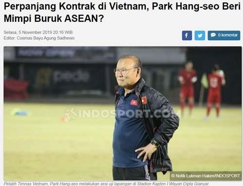 'Gia hạn với VFF, Park Hang Seo gieo ác mộng cho cả Đông Nam Á' - ảnh 1