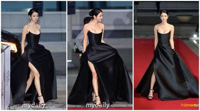 'Điên nữ' Seo Ye Ji nóng bỏng với vòng một 'bức thở', diện bộ đầm nửa tỷ lên thảm đỏ - ảnh 1