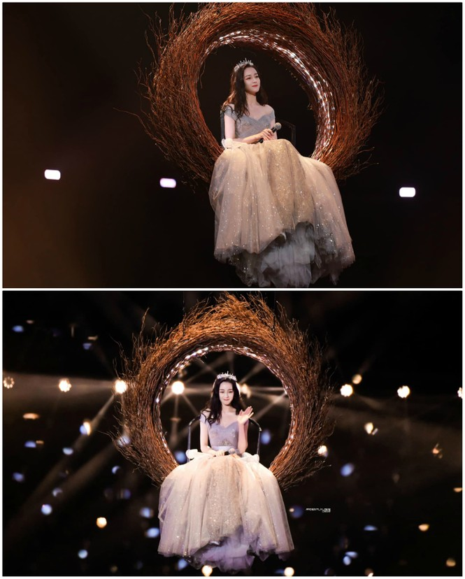 Địch Lệ Nhiệt Ba e ấp diện váy công chúa, khoe khéo lưng trần gợi cảm - ảnh 1