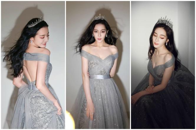 Địch Lệ Nhiệt Ba e ấp diện váy công chúa, khoe khéo lưng trần gợi cảm - ảnh 2