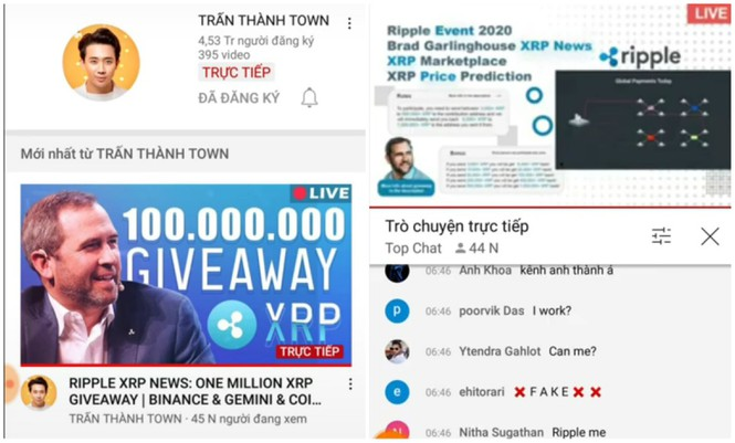 Kênh YouTube 4,5 triệu người đăng ký của Trấn Thành tiếp tục bị phát livestream lừa đảo - ảnh 2