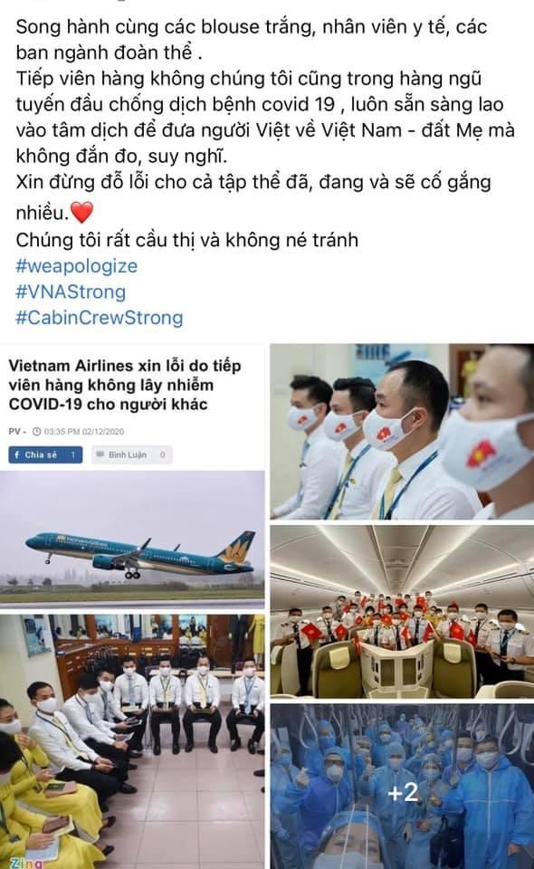 Loạt tiếp viên Vietnam Airlines treo hashtag xin lỗi cộng đồng, mong được đối xử văn minh - ảnh 3