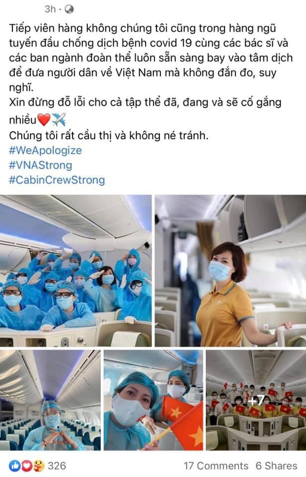 Loạt tiếp viên Vietnam Airlines treo hashtag xin lỗi cộng đồng, mong được đối xử văn minh - ảnh 6