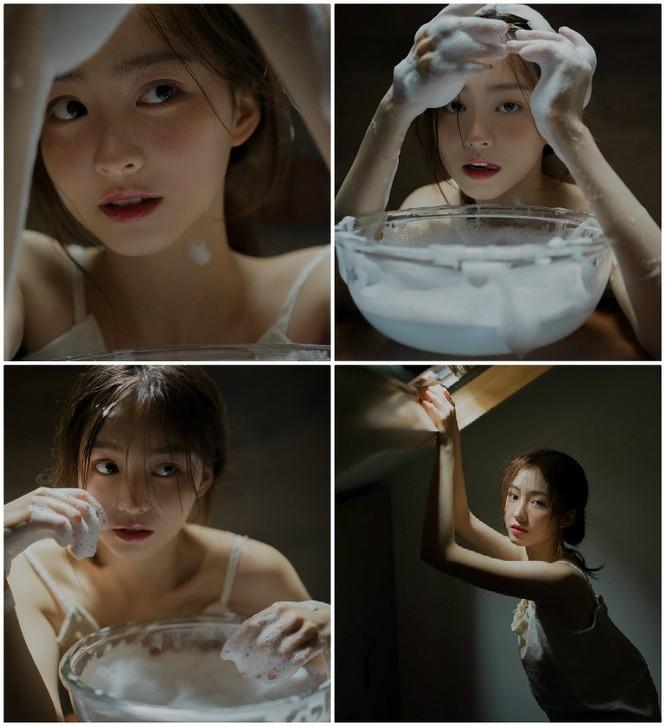 Mê mẩn với bộ ảnh 'tắm gội' của mẫu nữ Trung sở hữu 4 triệu fan - ảnh 1