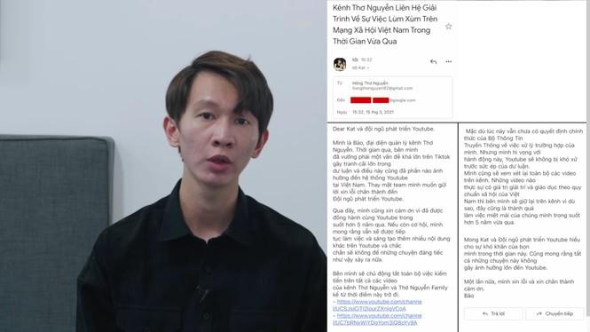 Thơ Nguyễn ẩn video, tắt kiếm tiền kênh YouTube, xin lỗi các em nhỏ và phụ huynh - ảnh 1