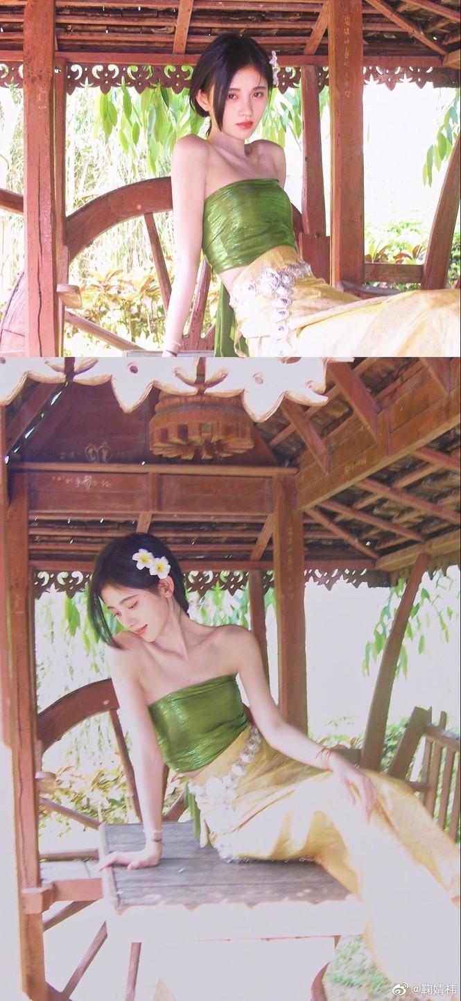 Diện đồ Thái, 'mỹ nữ 4000 năm' đẹp mơ màng như nàng thơ khiến dân tình mê mẩn  - ảnh 4