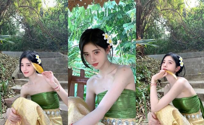 Diện đồ Thái, 'mỹ nữ 4000 năm' đẹp mơ màng như nàng thơ khiến dân tình mê mẩn  - ảnh 2