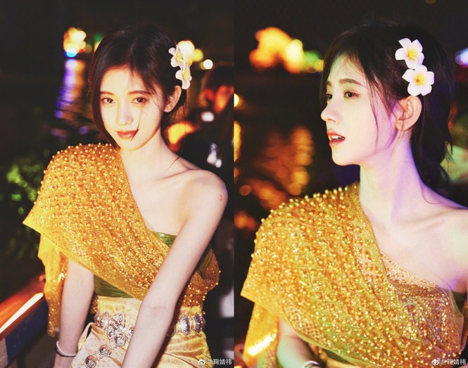 Diện đồ Thái, 'mỹ nữ 4000 năm' đẹp mơ màng như nàng thơ khiến dân tình mê mẩn  - ảnh 1