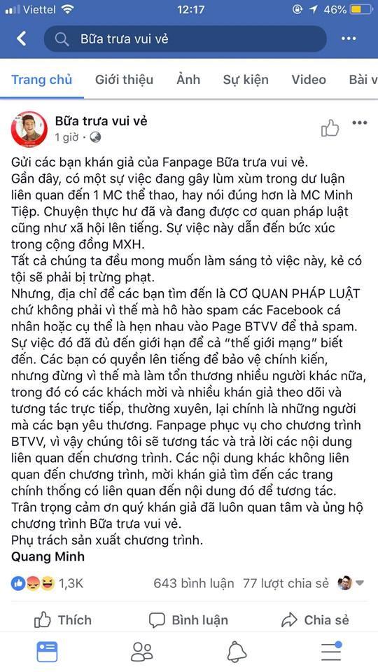MC Minh Tiệp bị tố bạo hành em vợ: Dân mạng 'tấn công' VTV6 - ảnh 2