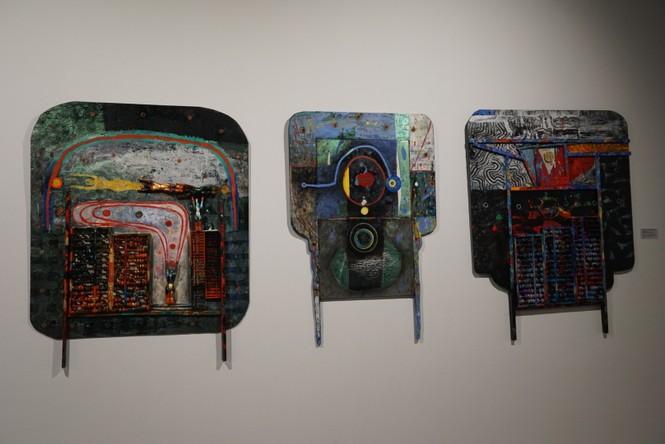 Chiêm ngưỡng tranh của các nghệ sĩ tiêu biểu Châu Á quy tụ tại Hà Nội - ảnh 1