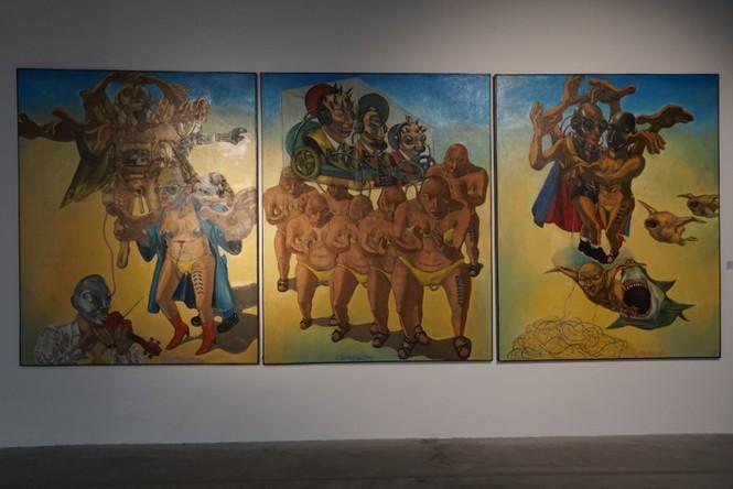 Chiêm ngưỡng tranh của các nghệ sĩ tiêu biểu Châu Á quy tụ tại Hà Nội - ảnh 4