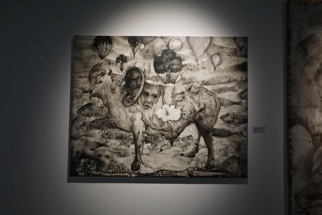Chiêm ngưỡng tranh của các nghệ sĩ tiêu biểu Châu Á quy tụ tại Hà Nội - ảnh 7