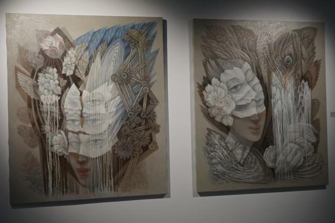 Chiêm ngưỡng tranh của các nghệ sĩ tiêu biểu Châu Á quy tụ tại Hà Nội - ảnh 10