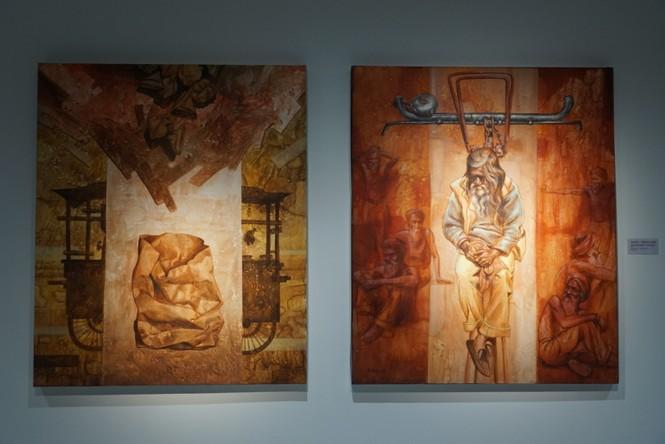 Chiêm ngưỡng tranh của các nghệ sĩ tiêu biểu Châu Á quy tụ tại Hà Nội - ảnh 13