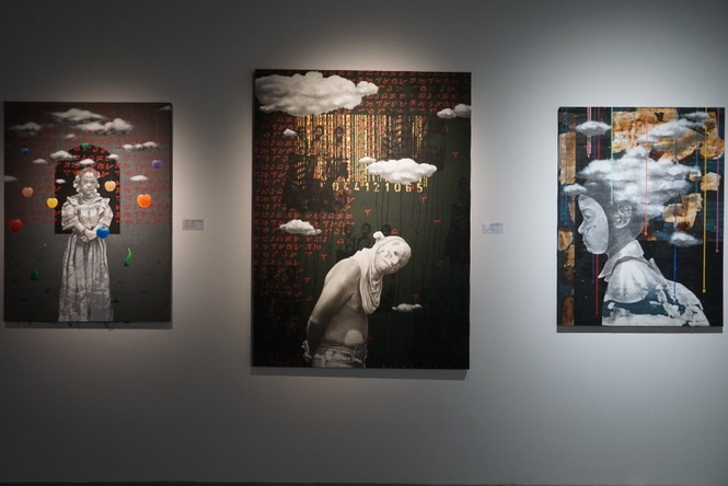 Chiêm ngưỡng tranh của các nghệ sĩ tiêu biểu Châu Á quy tụ tại Hà Nội - ảnh 14
