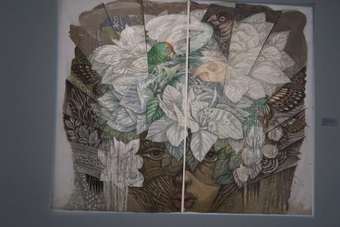 Chiêm ngưỡng tranh của các nghệ sĩ tiêu biểu Châu Á quy tụ tại Hà Nội - ảnh 16