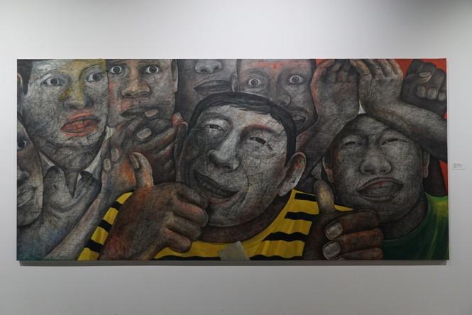 Chiêm ngưỡng tranh của các nghệ sĩ tiêu biểu Châu Á quy tụ tại Hà Nội - ảnh 17