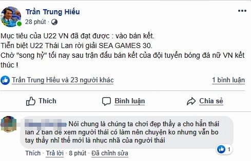 Dân mạng 'bùng nổ' khi U22 Việt Nam loại U22 Thái, vào bán kết SEA Games 30 - ảnh 1