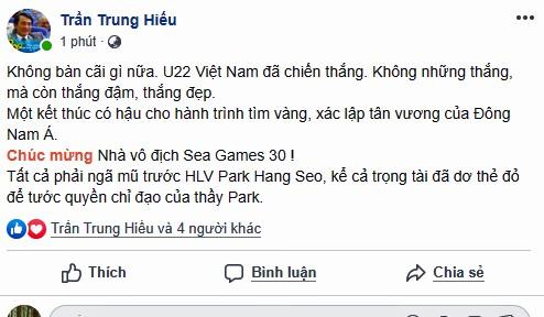 Dân mạng 'bùng nổ', muôn kiểu tung hô thầy Park và U22 Việt Nam - ảnh 2