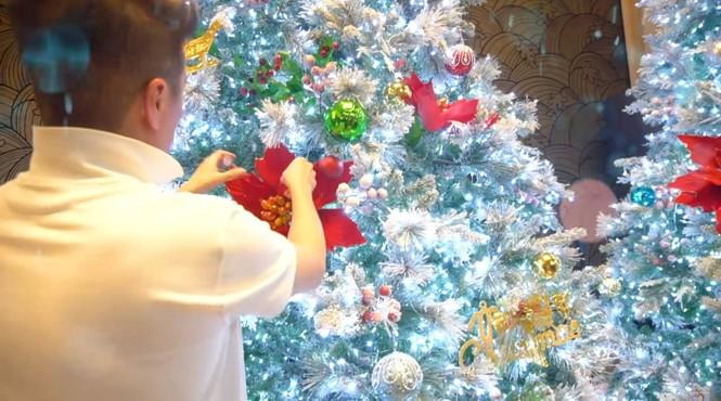 Đàm Vĩnh Hưng gây 'sốt' khi đeo bờm tuần lộc trang trí biệt thự đón Giáng sinh - ảnh 2