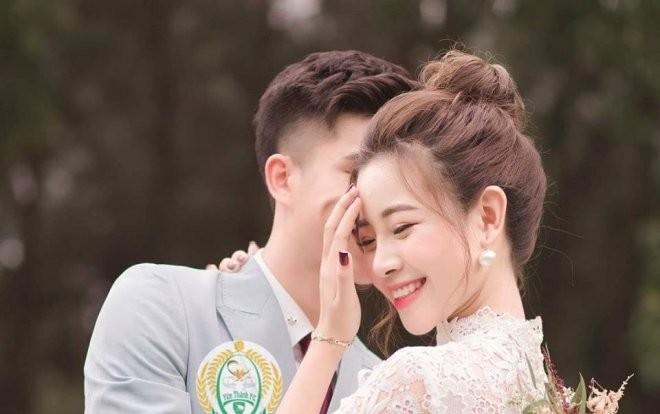 'Lóa mắt' vì số vàng mà bạn gái hot girl của Phan Văn Đức đeo trong lễ ăn hỏi - ảnh 6