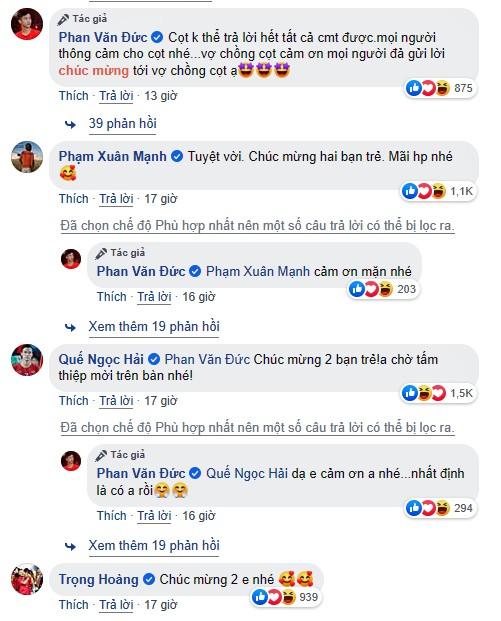Câu cảm ơn sau lễ ăn hỏi bạn gái hot girl của Phan Văn Đức gây 'sốt' - ảnh 3