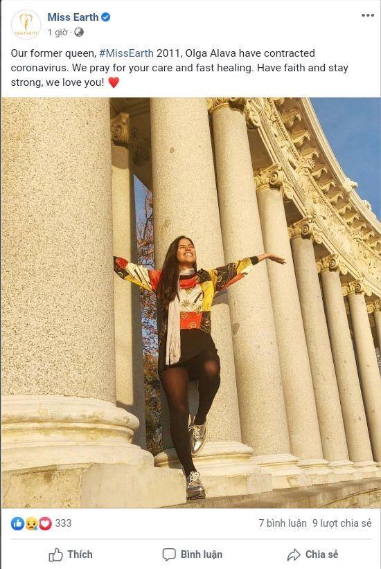 Hoa hậu Trái đất 2011 mắc COVID-19 - ảnh 1