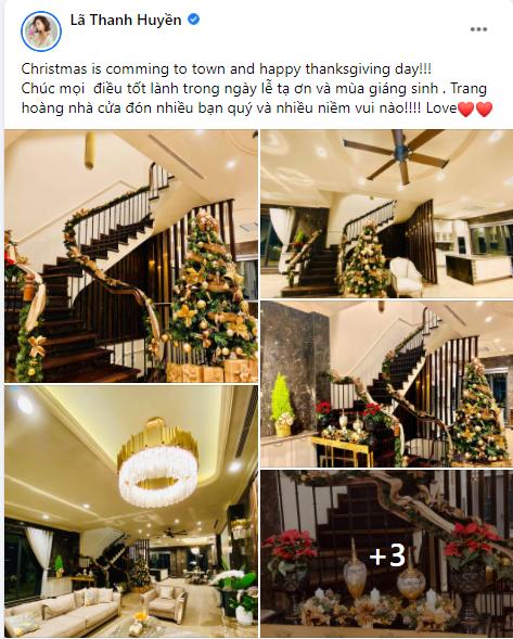 Ngây ngất ngắm biệt thự sang trọng tràn ngập không khí Giáng sinh của Lã Thanh Huyền  - ảnh 1