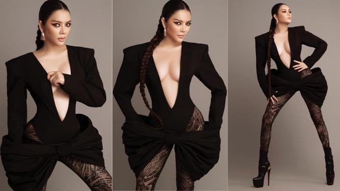 Hai nàng hậu Tiểu Vy, Kỳ Duyên 'đọ dáng' với váy đen bó sát - ảnh 9